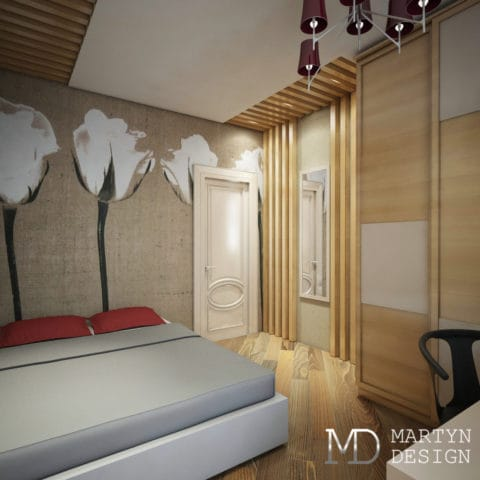 дизайн спальни в 4 комнатной квартиры в панельном доме