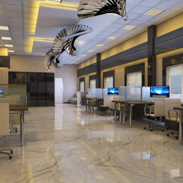 Дизайн офиса компании «Строэлит»