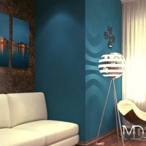 Дизайн интерьера 2 комнатной квартиры в современном стиле