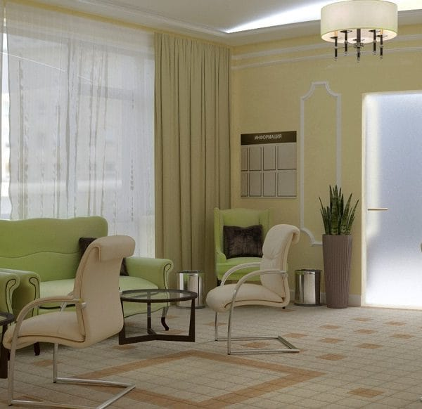 Дизайн интерьера салона красоты Мерлин