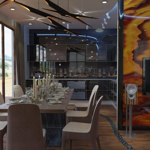 Дизайн-проект интерьера загородного дома 280 кв.м