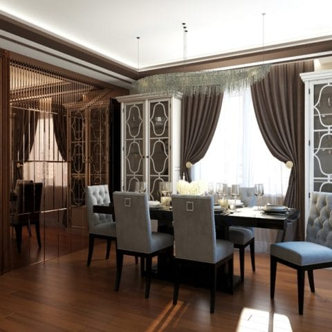 Дизайн проект столовой в частном доме