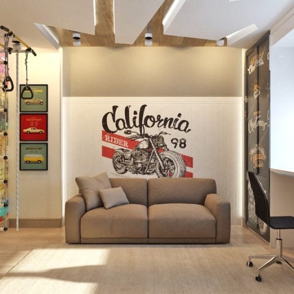 Дизайн проект интерьера детской комнаты