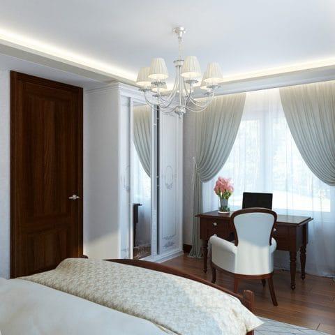 Дизайн проект спальни в частном доме