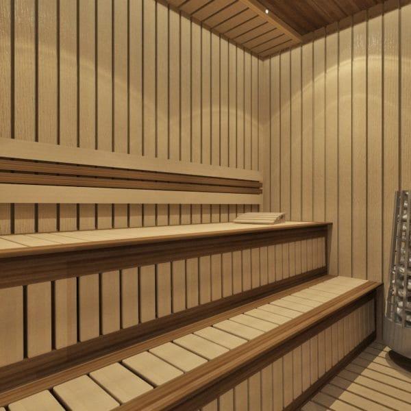Дизайн сауны в загородном доме