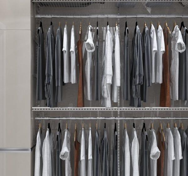 Интерьер гардеробной комнаты в квартире