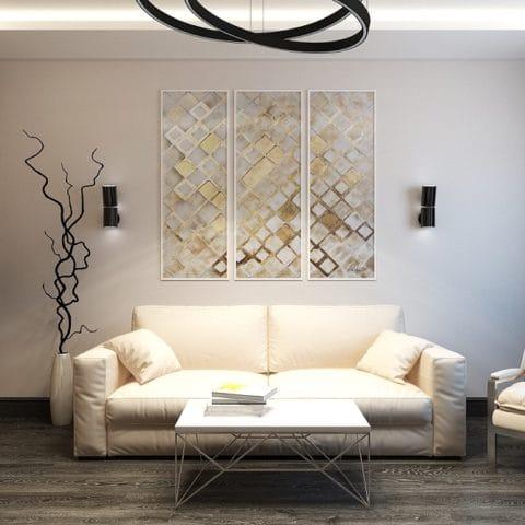 Дизайн интерьера трехкомнатной квартиры в доме КОПЭ