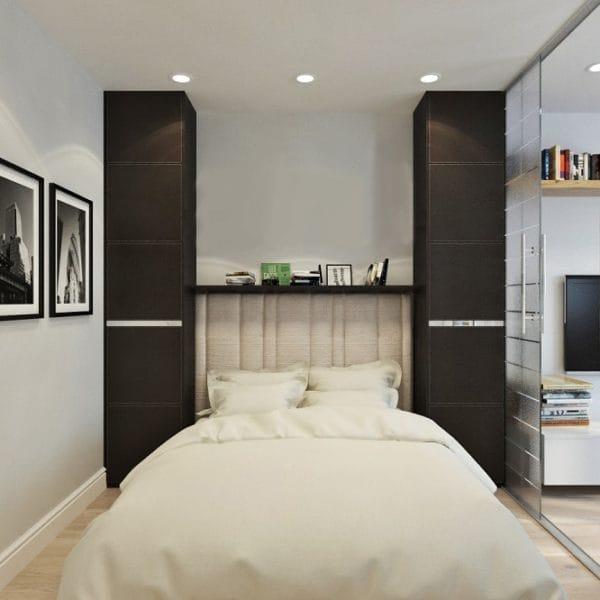 Дизайн спальни в двушке
