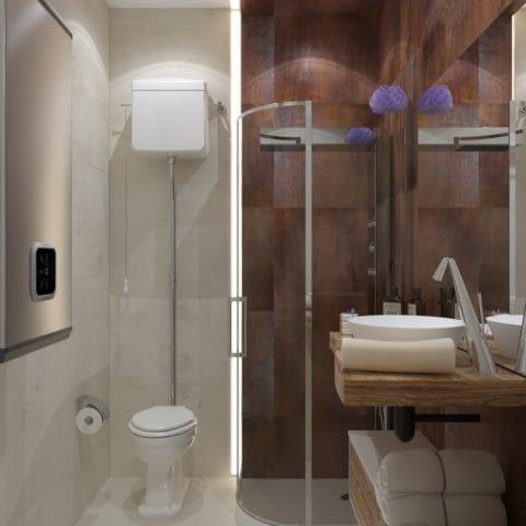 Дизайн уборной комнаты в небольшой квартире