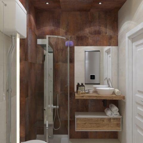 Дизайн проект санузла в квартире