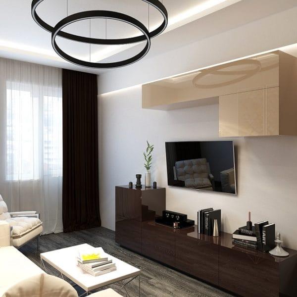 Интерьер 3 комнатной квартиры в доме КОПЭ