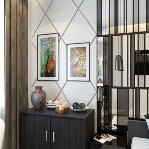 Интерьер трехкомнатной квартиры в доме серии КОПЭ