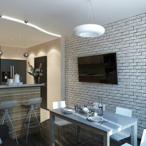 Кухня столовая в квартире серии КОПЭ