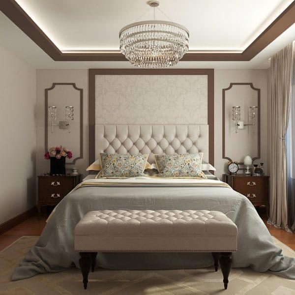 Интерьер спальни в частном доме