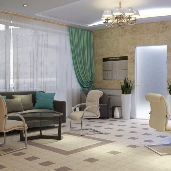 Дизайн зоны ожидания салона красоты