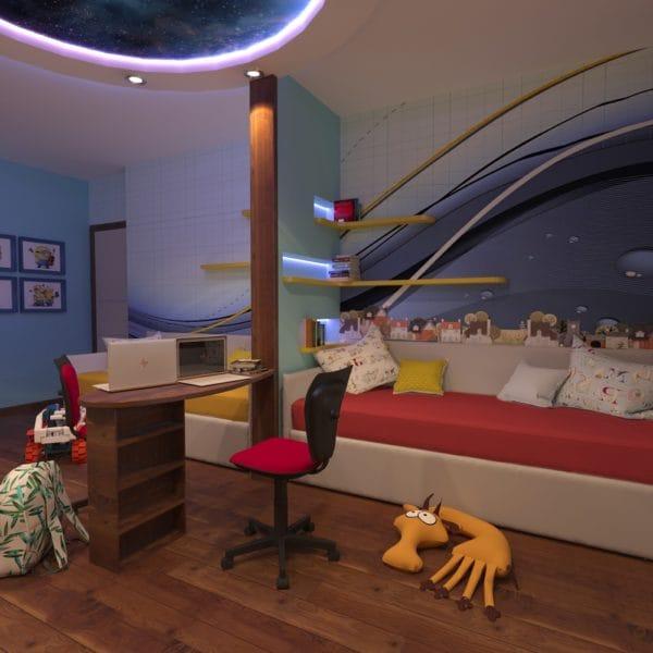 Дизайн трехкомнатной квартиры 60 кв. м в современном стиле