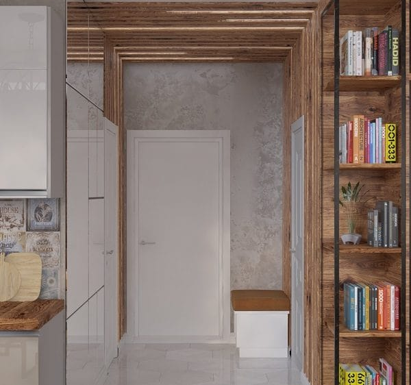 Интерьер 1 комнатной квартиры 33 кв м