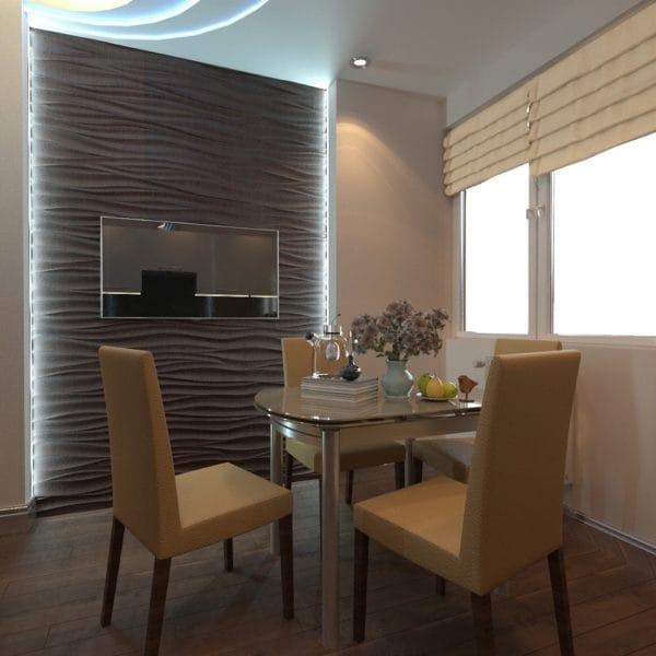 дизайн 3 комнатной квартиры 60 м2