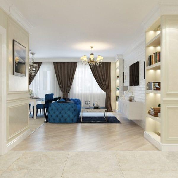 дизайн четырехкомнатной квартиры хрущевки