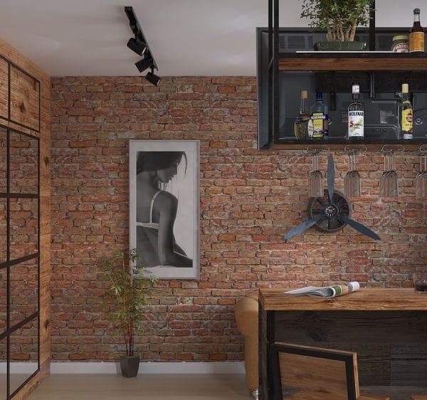 Дизайн проект интерьера однокомнатной квартиры 33 кв. м