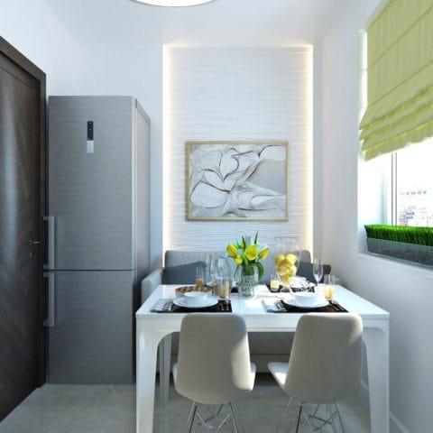 дизайн кухни в трехкомнатной квартиры 70 кв м
