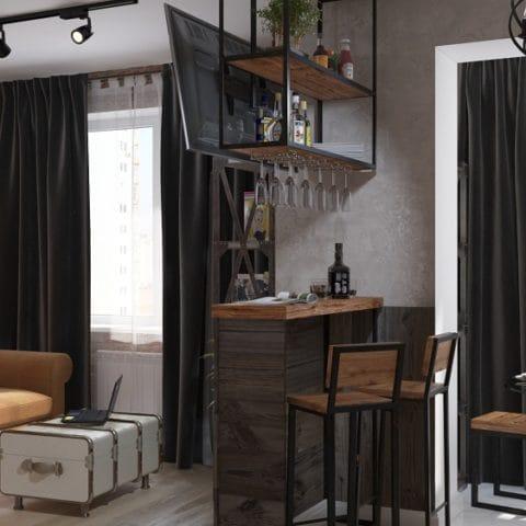 Дизайн интерьера квартиры 33 квадратных метров
