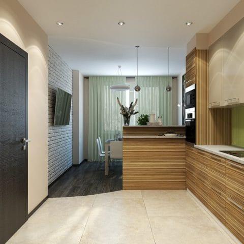 Дизайн проект 3 х комнатной квартиры в доме серии копэ