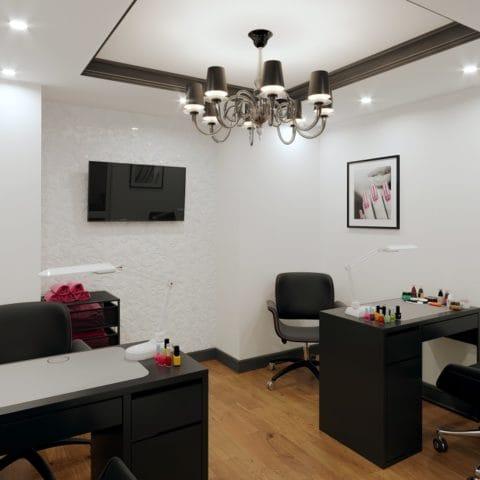 Дизайн проект интерьера маникюрного салона