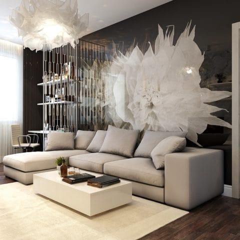 Современный дизайн трехкомнатной квартиры
