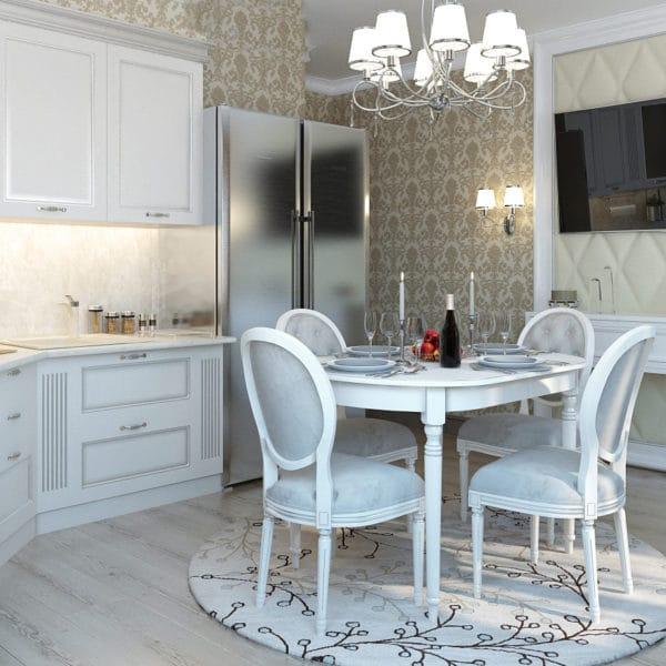 Дизайн-проект квартиры 50 кв.м в классическом стиле