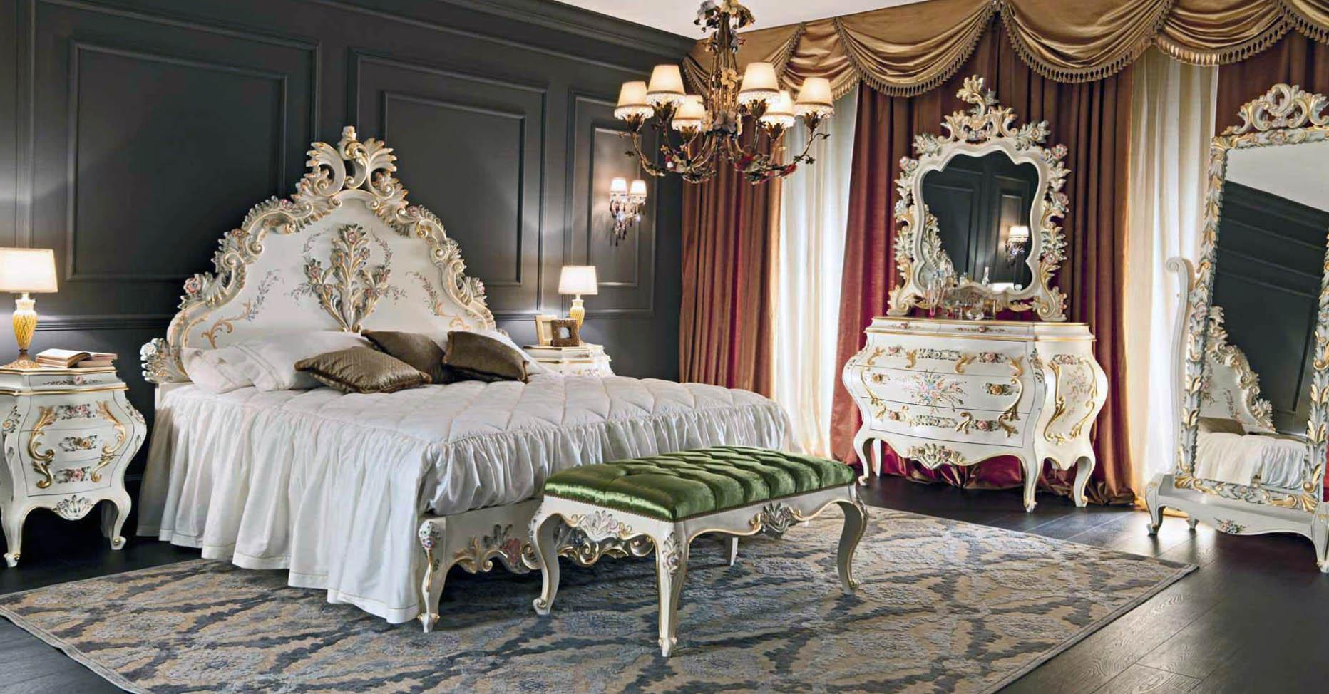 Дизайн спальни в стиле барокко