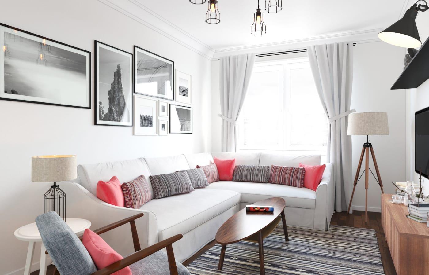 Расстановка мебели в скандинавском стиле