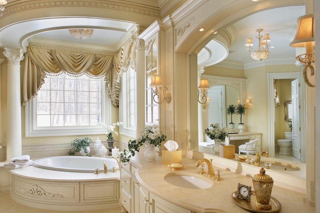 Дизайн ванной в стиле барокко