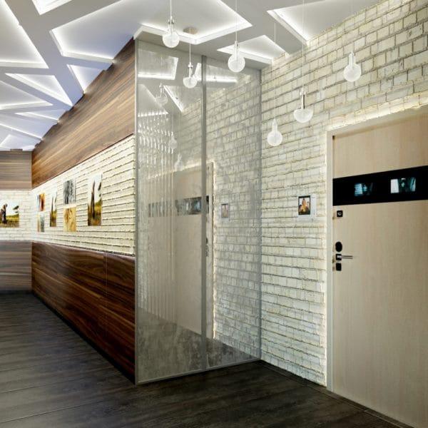 Дизайн двухкомнатной квартиры в современном стиле 56 кв. м.