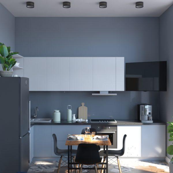 Дизайн-проект двухуровневой квартиры в современном стиле с элементами лофт