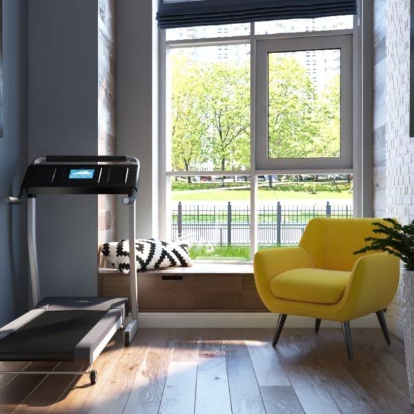 Дизайн-проект гостиной прихожей двухуровневой квартиры в современном стиле с элементами лофт