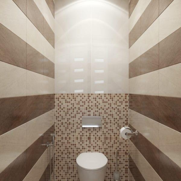 Дизайн-проект ванной в трехкомнатной квартире в сталинском доме