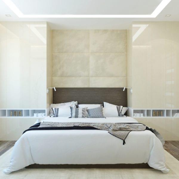 Дизайн-проект спальни в трехкомнатной квартире в сталинском доме