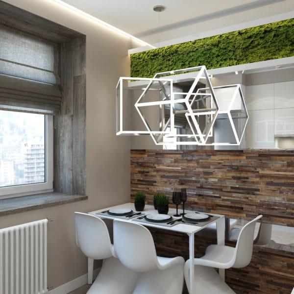 Дизайн-проект кухни в трехкомнатной квартире в сталинском доме