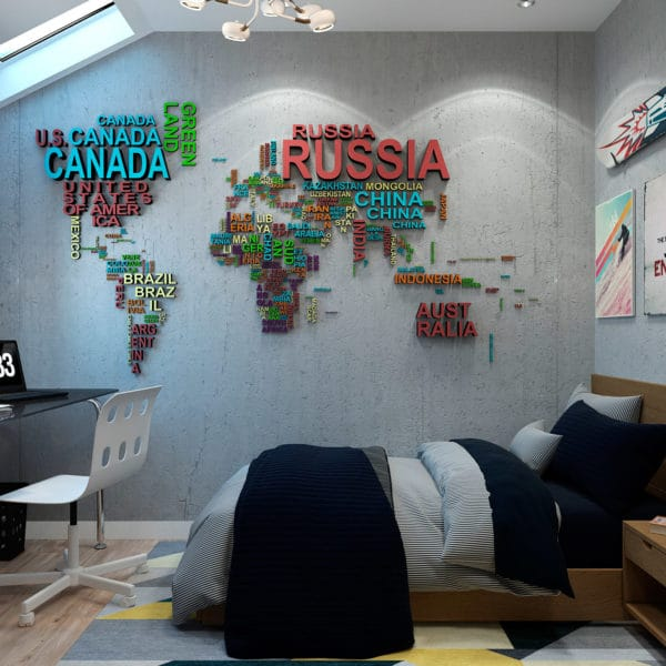 дизайн-проект комнаты для мальчика