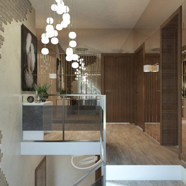 дизайн-проект лестницы на второй этаж