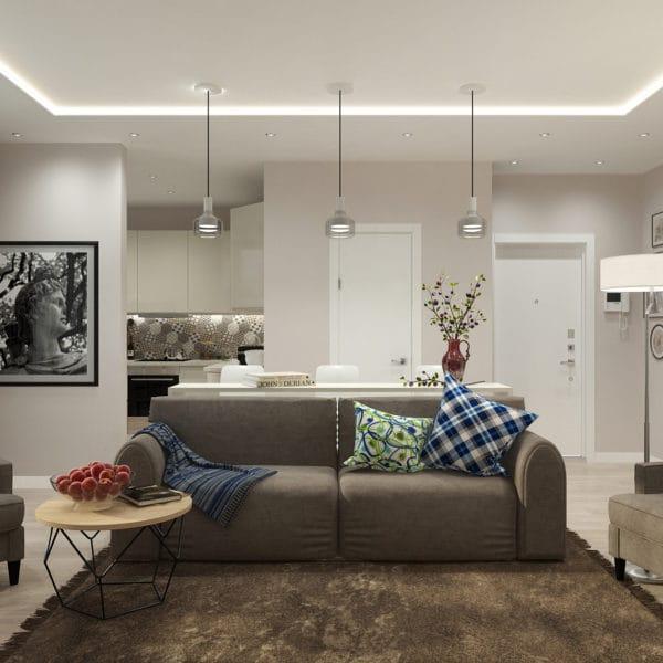 Дизайн-проект квартиры 51 кв.м в ЖК «Государев дом»