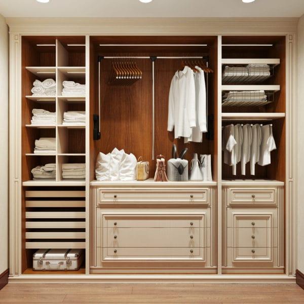 Дизайн гардероба в классическом стиле