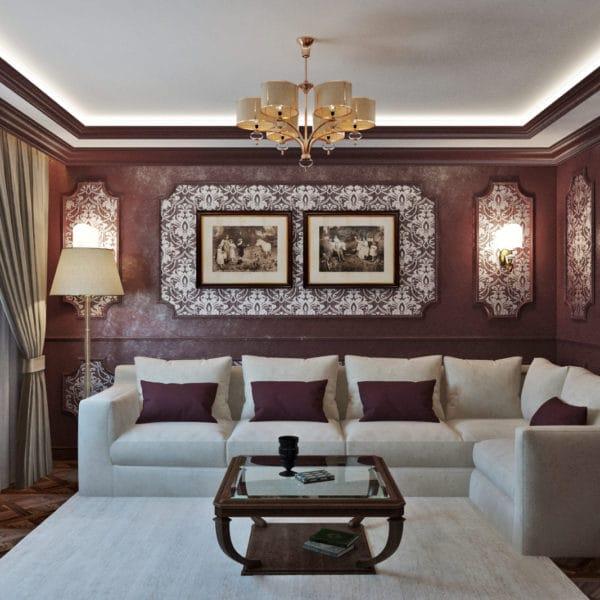 Дизайн-проект квартиры 100 кв м в классическом стиле