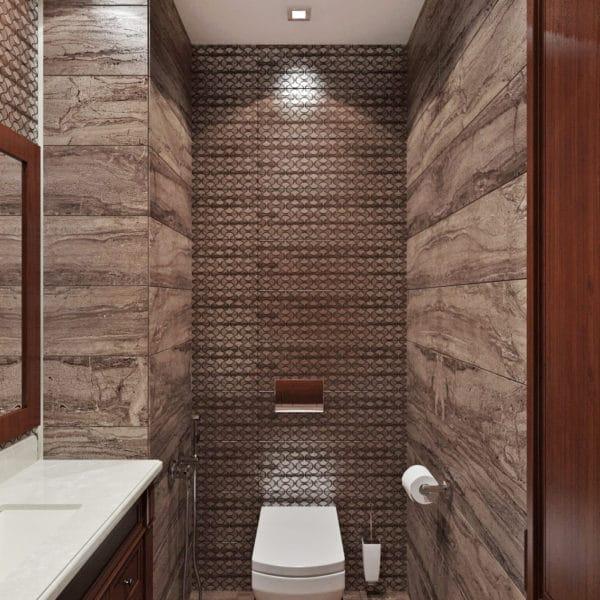 Дизайн туалета в классическом стиле